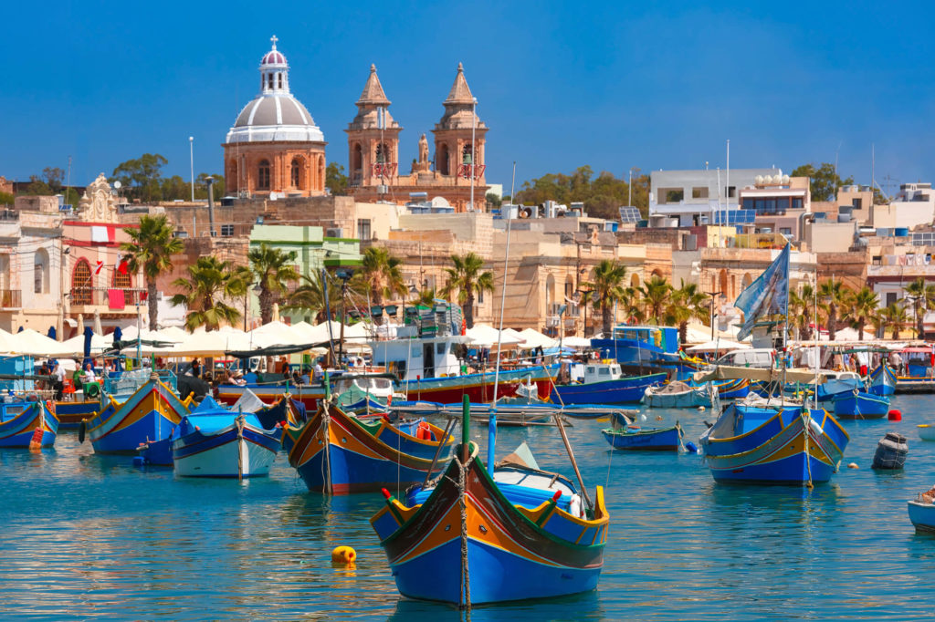 Kurs językowy na Malcie, widok na wybrzeże